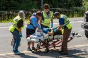 Tous les passagers ont été transportés dans des... (Photo John DiGiacomo, Associated Press) - image 2.0