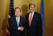 Ban Ki-Moon et John Kerry se sont rencontrés... (Photo: AP) - image 1.0