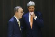 Ban Ki-moon et John Kerry à Jérusalem mercredi.... (Photo: Reuters) - image 2.0