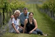 Diane, Sophie et Joseph Cortellino dans leur vignoble.... (Photo David Boily, La Presse) - image 2.0