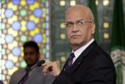 Le négociateur palestinienSaeb Erekat... (Photo Amr Nabil, AP) - image 1.0