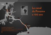 Le canal de Panama célèbre aujourd'hui son 100eanniversaire.... (Illustration La Presse) - image 1.0