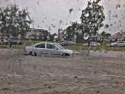 Les pluies diluviennes tombées jeudi à Winnipeg, au... (Photo tirée de Twitter/@M0rph88) - image 1.0