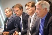 Richard Legendre (à l'extrême gauche) , nommé premier... (Photo Ivanoh Demers, La Presse) - image 2.0