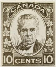 Un timbre à l'effigie deGeorge-Étienne Cartier.... (PHOTO LA PRESSE CANADIENNE) - image 1.0