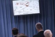 Carte illustrant où les frappes ont eu lieu.... (Photo BRENDAN SMIALOWSKI, AFP) - image 1.0