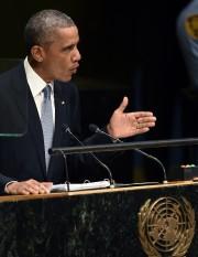 Barack Obama s'adressant mercredi devant l'assemblée générale de... (Photo: AFP) - image 2.0