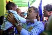 Selon un sondage CNT rendu public samedi,Aecio Neves... (PHOTO MARCOS FERNANDES, AFP) - image 1.0