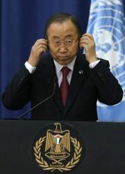 Le secrétaire général de l'ONU Ban Ki-moon.... (PHOTO AMMAR AWAD, REUTERS) - image 2.0
