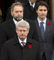 Stephen Harper, Thomas Mulcair et Justin Trudeau ont... (Photo La Presse Canadienne) - image 1.1