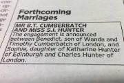 L'annonce du mariage dans le journal The Times.... (Photo: AP) - image 1.0