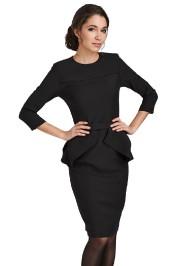 Robe noire à basque Fanny de la griffe... (Photo fournie par Chic Marie) - image 1.1