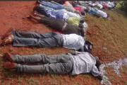 Les corps des victimes sont alignés sur le... (PHOTO REUTERS) - image 1.0