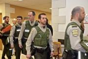 Quelques-uns des huit policiers qui ont été parmi... (Collaboration spéciale Johanne Fournier) - image 1.0