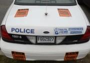 Des autocollants ont été apposés sur les véhicules... (Photo: Sylvain Mayer, Le Nouvelliste) - image 1.0