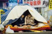 Des étudiants campent à Admiralty, le 2 décembre.... (PHOTO JOHANNES EISELE, AFP) - image 3.1