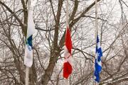 Les drapeaux étaient en bernes pour le décès... (Photo: François Gervais, Le Nouvelliste) - image 1.1