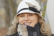 Chapeau de feutre de laine crème avec fourrure... - image 3.0