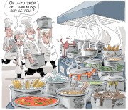 Toujours difficile pour un caricaturiste de s'ajuster aux... (Le Soleil, André-Philippe Côté) - image 1.1