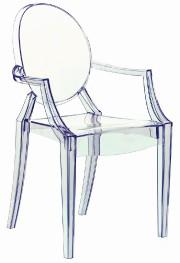 L'emblématique chaise Louis Ghost, du designer français Philippe... (Photo fournie par Philippe Starck) - image 6.1