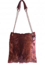 Sac en fourrure, tissu et cuir recyclé, 175... (Photo fournie) - image 2.0