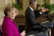 Angela Merkel et Barack Obama, à la Maison-Blanche,... (PHOTO PABLO MARTINEZ MONSIVAIS, AP) - image 2.0