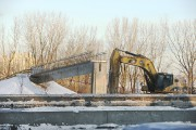 La structure de la passerelle piétonnière a été... (Photo Martin Chamberland, La Presse) - image 1.0