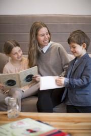 Émilie Bergeron et ses enfants, Flora (8 ans)... (Photo fournie par Émilie Bérangère) - image 2.0