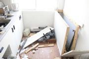 La cuisine de l'appartement a été lourdement endommagée.... (Photo: Sylvain Mayer, Le Nouvelliste) - image 1.0