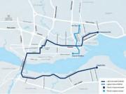 Le tracé étudié, comme déterminé dans le Plan... (Ville de Québec) - image 3.0