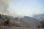 Un cowboy chilien près des feux.... (PHOTO Vladimir Rodas, AFP) - image 1.0