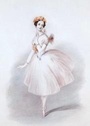 Portrait de l'Italienne Marie Taglioni dans La Sylphide.... (Wikimedia Commons) - image 1.0