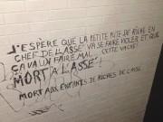 Un graffiti appelant au viol de Camille Godbout,... (PHOTO TIRÉE DE LA PAGE FACEBOOK DE L'ASSÉ) - image 1.0