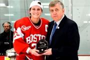 La Québécoise Marie-Philip Poulin a été élue joueuse... (Photo fournie par Boston University, Eric Canha) - image 2.0
