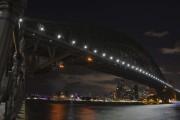 Le pont de Sydney, lumières éteintes.... (Photo Peter Parks, AFP) - image 2.0