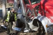 Le camionneur a aussi été blessé, mais on... (Photo: Stéphane Lessard, Le Nouvelliste) - image 1.0