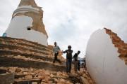 Latour historique de Dharhara s'esteffondrée.... (PHOTO NIRANJAN SHRESTHA, AP) - image 1.1