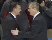 Les deux entraîneurs-chefs, Philippe Boucher et Darren Rumble,... (Le Soleil, Yan Doublet) - image 1.0