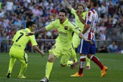 Lionel Messi célèbre son but.... (PHOTO ANDREA COMAS, REUTERS) - image 1.0