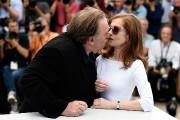 Gérard Depardieu était particulièrement affectueux envers sa partenaire... (Photo AFP, Loïc Venance) - image 1.0