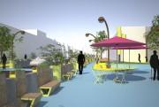 Limoilou aura sa place publique temporaire dès le... (Image fournie par EXMURO Arts publics) - image 1.0