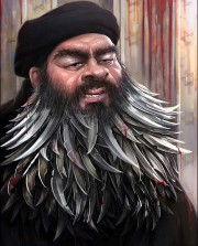 Le second prix est un portrait d'Abou Bakr... (ILLUSTRATION INTERNATIONAL DAESH CARTOON & CARICATURE CONTEST) - image 1.0