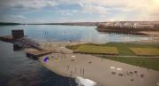 Les images divulguées lundi montrent deuxespaces plage, un... (Image fournie par la Ville de Québec) - image 1.0
