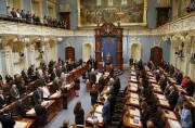 Les membres de l'Assemblée nationale se sont recueillis... (PHOTO MATHIEU BELANGER, REUTERS) - image 1.0