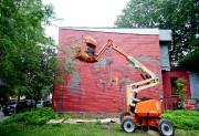 La mural de Faith 47, La puissance psychique... (PHOTO MARCO CAMPANOZZI, LA PRESSE) - image 1.0