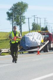 La collision frontale survenue sur la route 112,... (Imacom, Julien Chamberland) - image 1.0