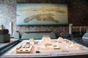 Une fresque et une maquette représentant la ville... (Photo collaboration spéciale, Normand Provencher) - image 2.1