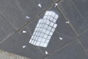 Ce pochoir représentant l'oeuvre Dialogue avec l'histoire a... (Le Soleil, Patrice Laroche) - image 2.0
