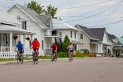 La piste cyclable traverse le village à Métabetchouan.... (PHOTO DAVID BOILY, LA PRESSE) - image 3.0