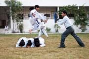 Le taekwondo est enseigné dans la maison d'accueil... (PHOTO MARIE-SOLEIL DESAUTELS, LA PRESSE) - image 4.0